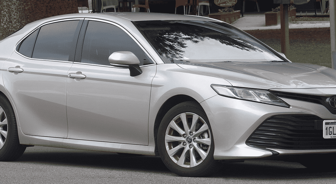 Toyota Camry Junk Car Silver